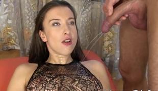 fetish hd brunette strømper