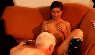 Old hairy anal first time Latoya makes clothes, but that babe like