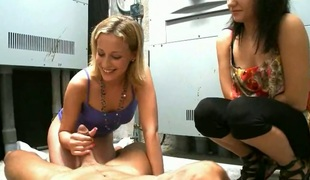 Amazingly sexy sex kitten satisfies guys sexual wants and then takes cum shot on her marvelous face