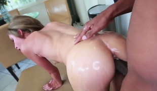 Natasha White receives down and dirty in cum flying action
