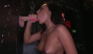 A big dick acquires a blow job
