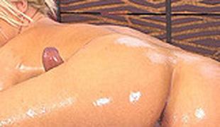 tenåring blonde massasje ass