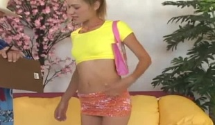 Nadia is a very tall, black blonde haired teen