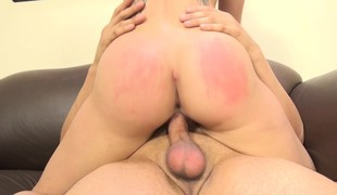 Slutty babe with fabulous big breasts Cali Marie enjoys a hard fucking