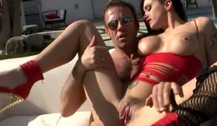 Alby Rydes cannot miss the chance to have a 3some with Rocco Siffredi
