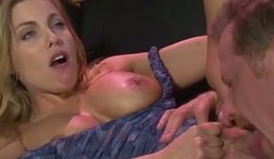 Well shaped blond mamma Brittany Amber got her fanny tickled and licked properly