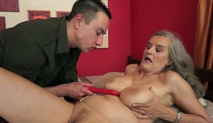 Aliz in Juicy Granny Movie scene
