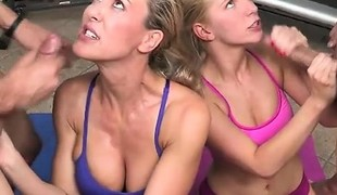 blonde hardcore blowjob fetish uniform gruppesex