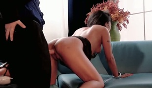 Wet minx Kaylani Lei is ready to suck guys pulsating love wand day and night