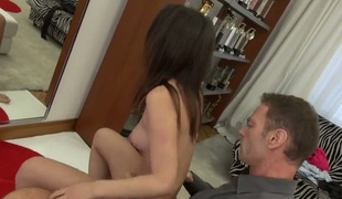 Rocco Siffredi whips out his man meat to fuck amazingly sexy Aninas muff