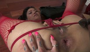 sjarmerende vakker lesbisk milf pornostjerne strømpebukse fitte slikking