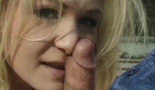naturlige pupper anal blonde hardcore utendørs blowjob fingring fitte thong fitte slikking