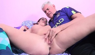 Delightful redhead Addison Ivory receives sexually fulfilled by Porno Dan