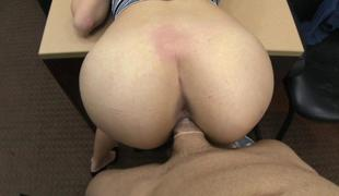 Beautiful brunette screwed by pawn chap