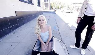 Petite Elsa Jean thrashed in her cute little holes