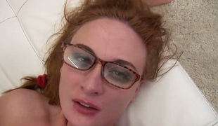 Eva Berger enjoys the earth moving anal fuck with hard dicked fellow Rocco Siffredi before she acquires her mouth screwed
