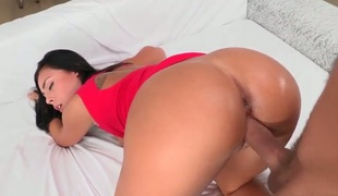 Gianna Nicole is a raven haired beauty that has a fetish for large cocks. In this video that babe gives a blow job and then that babe hopes to have it shoved inside her pussy.