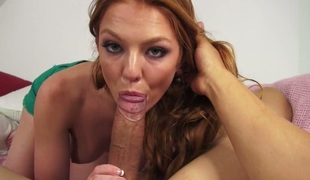 Farrah Flower cant live a day without getting her mouth screwed by hard dicked dude