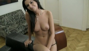 Bambi A satisfies her sexual desires with Rocco Siffredis stiff meat stick in her snatch pie