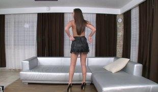 Exotic senorita receives the boyfriend's jock in various poses