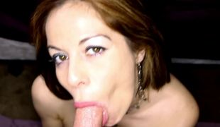 Kora Peters erotically sucks on this stiff dick in POV