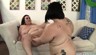Fat housewives use sex toys to give each other overwhelming pleasure