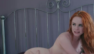 Dominant redhead Ella Hughes loves being watched during sex