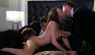 Breath-taking hottie Chanel Preston gangbanged in arousing HD porn episode