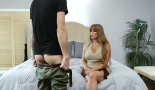 Horny blonde older Darla Crane properly drilled by a nerd
