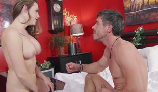 Chanel Preston blows the man that fucks her up the booty