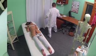 Sexy Brunette Patient returns longing the doctors big schlong