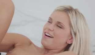 Blond woman Dido Angel is hungry for hard fucking