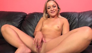 Small blonde nympho with small tits Cleo Vixen has a excitement for cock