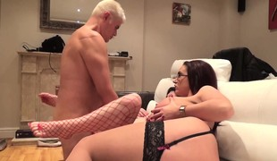 Stacked British bitches Lucia and Emma getting drilled by the same guy