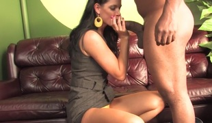 Son watching mom India Summer getting drilled by a BBC