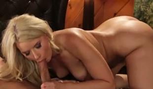 Voracious yummy blondie Anikka Albrite sucks sick guy off in extraordinary 69 pose