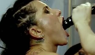 Yummy blond sex pot Briana Banks enjoyed hard core lesbo orgy