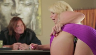 Blonde seductress with big scoops Phoenix Marie nailed well