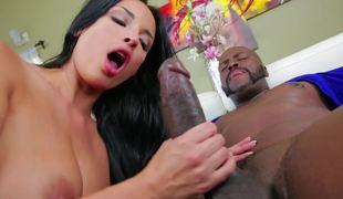 Anissa Kate takes BBC in her taut white asshole