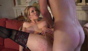 A breasty milf that has excellent knockers is getting penetrated hard