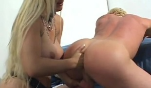 Unfathomable fingering stretches his asshole for dominatrix-bitch