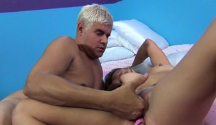 Buxom nympho with a glamorous ass Ashley Reed takes a penis for a ride