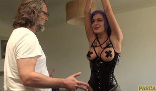 Facefucked british wench fingerfucked rough