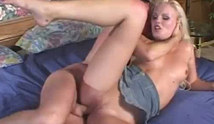 Black haired wanton bitch Ariana Jollee enjoys nasty 3 some with spoiled blond foul and kinky stud