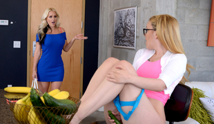 Alena Croft & Haley Mae in Right Down The Pussy - MomsLickTeens